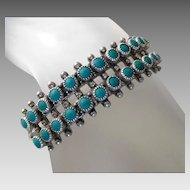 ** LAST CALL** Old Southwest Sterling Silver Native American Turquoise Cuff Bracelet