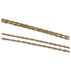 Vintage 14K Solid Yellow Gold Necklace Chain