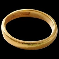 Antique Jaccards St. Louis 22K Solid Yellow Gold Band Ring