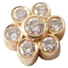 Vintage 14K Gold & Diamond Necklace Pendant