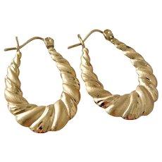 Earrings Shrimp Gold Ruby Lane