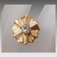Vintage 14K Gold & 1/4 Carat Diamond Solitaire Tie Tack.