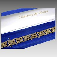 Camrose & Kross Jacqueline Kennedy JBK Multi Stone Crystal Filigree Bracelet