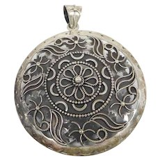 Vintage Large Doug Paulus Sterling Silver Tribal Necklace Pendant