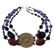 Couture Mayan Calender Chunky Necklace by Coreen