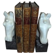 "1st Edition 1870 Victor Hugo Antique Book Set 3 Volumes ""By Order of the King"" Illustrated Leather & Board"