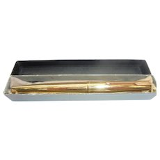 14K SOLID GOLD PARKER PEN Presidential 61 Vintage Fountain Pen With Original Box & Pouch Fully Hallmarked