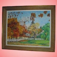 1940s Bucolic Country Landscape Oil Painting NJ Artist Arch Cooper