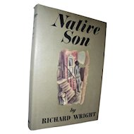 Native Son Vintage Book with Dust Jacket