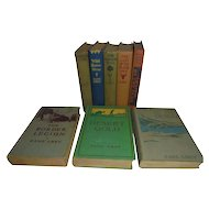 Early Zane Grey Book Set Collection 8 Books Three are First Editions