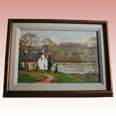 New Hope PA Wayne Beam Morrell Original Oil Painting Highly Listed American Impressionist Artist