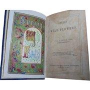 """Spring Wildflowers"" 1845 Scottish Poetry Book Poems William D'Leina"