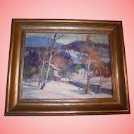 Canadian Landscape by William Garnet Hazard (1903 ~ 1987) Sascatchuan Canada Impressionist Landscape Well Listed Artist Original Oil Painting