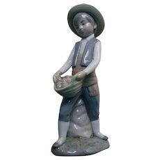 Boy Potato Farmer Figurine Made in Spain Zaphir