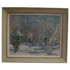 Martins Krumins (Latvian 1900 - 1992) Large Oil on Canvas Painting