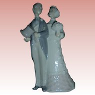 MInt Lladro Bride and Groom Wedding Couple Vintage Figurine #4808