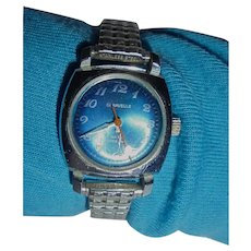Beautiful Caravelle Automatic beautiful Blue Face Stainless Steel Manual Wind Wrist watch
