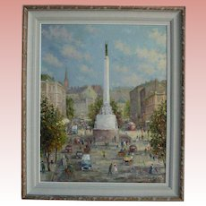Latvia Freedom Monument Riga by Voldemars Skulte (Latvian US 1907-1997)