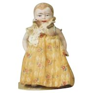 "Antique All Bisque 5"" Baby Doll Looks German Unmarked"