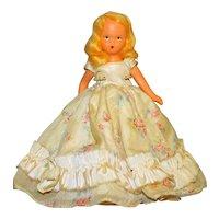 "Nancy Ann Painted Bisque Doll, Vintage, Circa 1937  6"" Blonde Mohair"