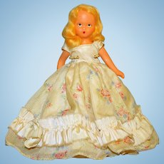 "Nancy Ann Painted Bisque Doll, Vintage, Circa 1937  6"" Blonde Mohair"
