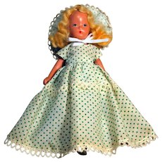 """Kerr & Heinz Painted Bisque Doll, 7"""" tall, Circa 1930's.  Story Book Type Unmarked"""