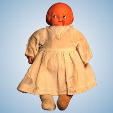"Campbell Kid Vintage Cloth Doll with Composition Head 12"" Ca 1910-1914 E I. Horsman Unmarked"