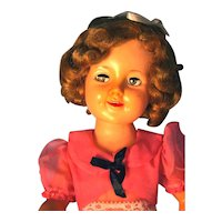 """Shirley Temple Doll by Ideal 19"""" 1950's in Vinyl, Marked on back and Head ST-19"""
