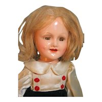 """Madame Alexander Sonja Henie Composition Doll with Swivel Waist 14"""" in Tagged Outfit"""
