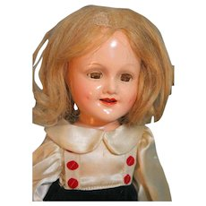 "Madame Alexander Sonja Henie Composition Doll with Swivel Waist 14"" in Tagged Outfit"