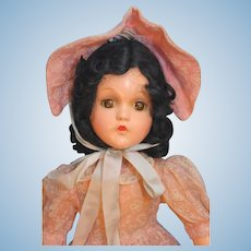 """Madame Alexander Scarlett  Composition Doll in Beautiful Replaced Outfit in Very Good Condition that is 17"""" tall circa 1940"""
