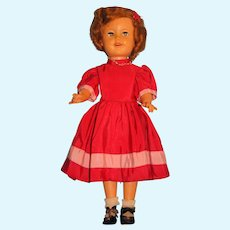 "Shirley Temple Doll by Ideal 17"" 1950's Vinyl Marked on Back ST-17"