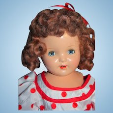 "Shirley Temple Doll Composition Look a Like 19"" from 1930's Unmarked"