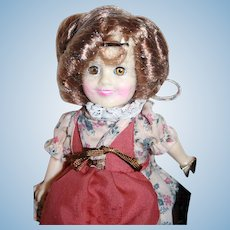 """Shirley Temple vinyl doll 7-1/2"""" tall from Ideal, 1983, boxed. .Suzannah of the Mounties."""
