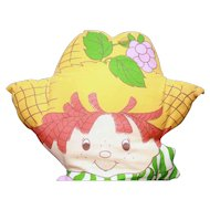 "Strawberry Shortcake pillow doll of Huckleberry circa 1980's 19"" Unknown Maker"