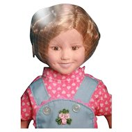 "Shirley Temple vinyl doll 14"" tall dressed as Rebecca of  Sunnybrook Farm, Danbury Mint/Target"