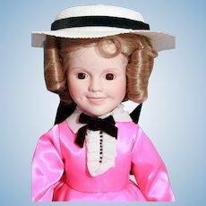 "Shirley Temple doll porcelain 14"" Danbury Mint Little Colonel, very good condition, original box, complete"