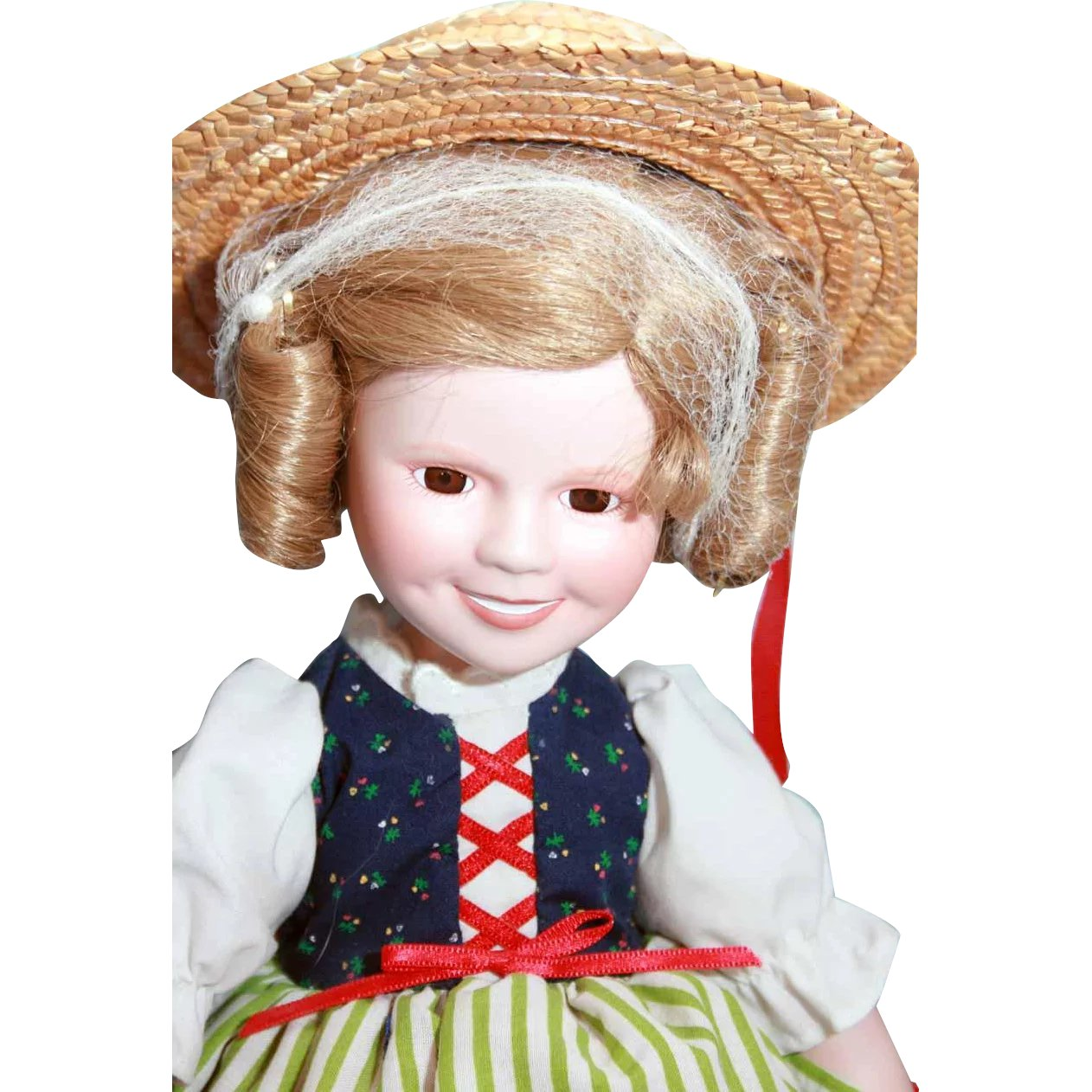 Danbury Mint The Shirley Temple Dress UP Doll Heidi Outfit