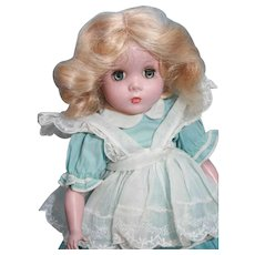 "Madame Alexander Maggie Face hard plastic blonde 14"" tall"