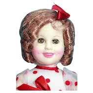 "Shirley Temple doll in vinyl 16"" tall by CBS by Ideal 1984"