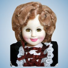 """Shirley Temple doll in vinyl 16"""" tall Heidi from Ideal 1984"""