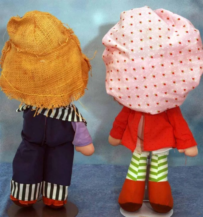 Strawberry Shortcake Doll And Huckleberry Pie Doll 15 Tall Cloth