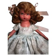 "Nancy Ann Story Book bisque child doll 5-1/2"", good condition with box '93 Seasons Series Winter'."