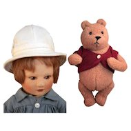 "R., John Wright Christopher Robin 19"" and Winnie the Pooh 7 1/2"""