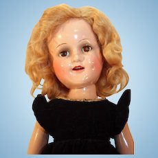 """Sonja Henie 18"""" composition doll by Madame Alexander from 1939-1942 in very good condition."""