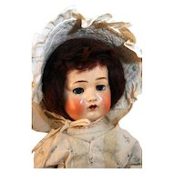"German composition socket head doll 17"" tall, Amusco, from 1920's."