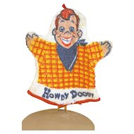 "Howdy Doody terry cloth wash cloth, 8 1/2"" Tall circa early 1950's"