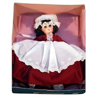 "Madame Alexander Marme 11"" hard plastic doll Little Women series original box marked 1324 vintage."
