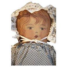 """All cloth artist doll 16"""" by Talbott Doll Company by Charmaine Talbott, 1991."""