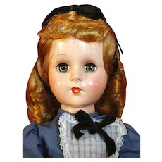 """Sweet Sue 18"""" tall doll by American Character as Alice In Wonderland in very good condition from 1953."""